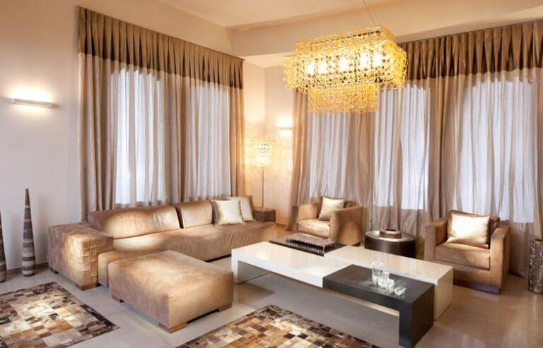 Шторы в гостиную в современном стиле: дизайн занавесок и портьер, легкие и стильные варианты
